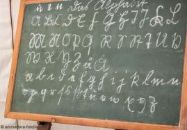 Alte Schultafel mit Alter Schrift